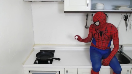 蜘蛛侠:蜘蛛侠做煎蛋,就像是变魔术!