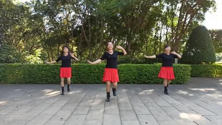 开远叶子广场舞《拈花一笑》步子舞