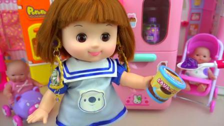 儿童亲子互动,婴儿娃娃玩惊喜蛋游戏屋,太好玩了