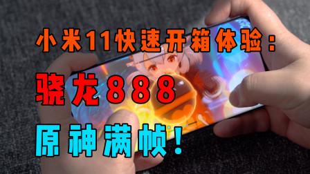 小米11快速开箱上手:骁龙888性能起飞,玩原神满帧!