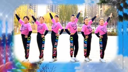 玉霞广场舞《逐梦天涯》原创现代舞