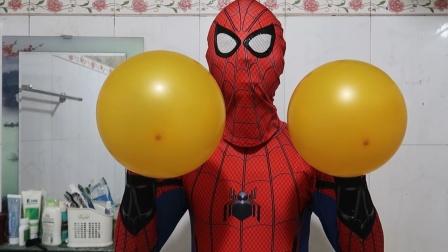 蜘蛛侠:蜘蛛侠的气球在手中莫名其妙的变大!