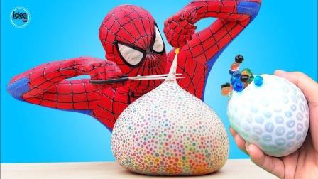 蜘蛛侠:蜘蛛侠给气球里灌满了泡大珠!