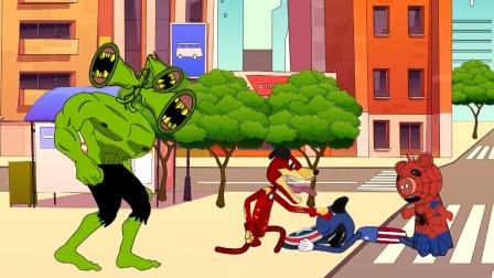 动画:城市遭变异警笛头袭击,超级英雄们紧急出征