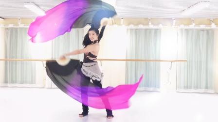 『舞蹈展示』原创双扇技巧串联《加勒比海盗》MV版【杭州太拉国际东方舞&印度舞培训漫漫老师】