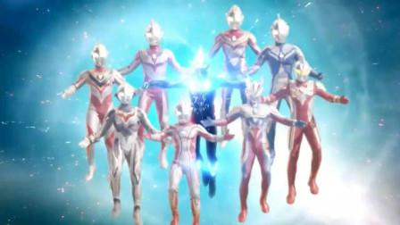 银河维克特利奥特曼在宇宙中打败魔神