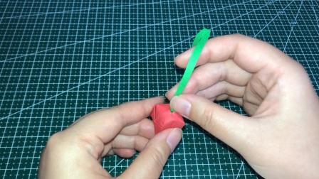 小樱桃折纸教程,简单好看,赶紧收藏