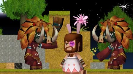迷你世界动画:酋长给野人唱歌被痛揍,卡卡趁机拿走钻石