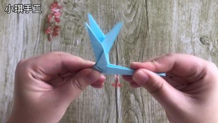 幼儿园手工动物折纸,蜻蜓折纸,简单好折,赶快学起来吧