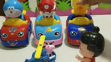 亲子宝宝动画:叮当猫的车不见了。