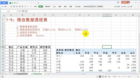 1-5:修改数据透视表