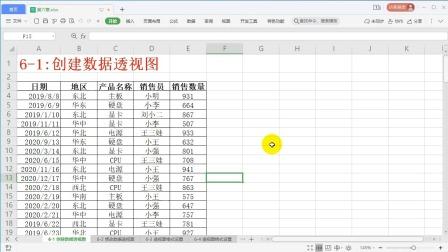 6-1:创建数据透视图
