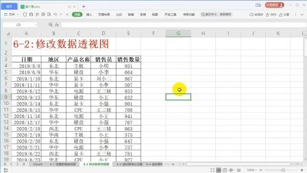 6-2:修改数据透视图