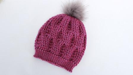钩针帽子编织 麦穗花型帽子第二集