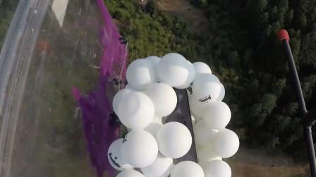 乒乓球包裹手机从120米高空落下,手机不但没事还弹起2米高!
