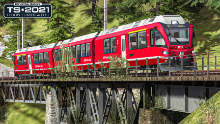 TS2021 阿罗萨线 #2:继续爬60‰的上坡 正点到达Langwies   Train Simulator 2021