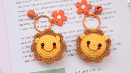 米妈手作 小狮子小玩偶挂件钩针编织教程