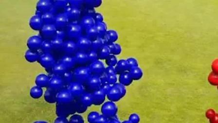 搞笑动漫:球球之间的大力碰撞