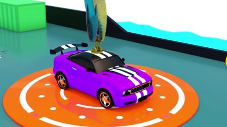 乐享知识乐园的野马玩具车飞行到指定位置