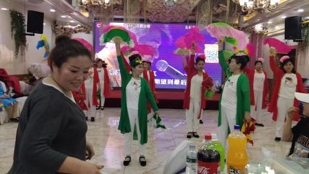2021年新年晚会节目:东北大秧歌.表演九龙达社区秧歌队.领队李振荣.吴静等