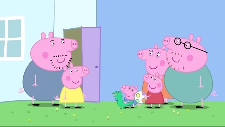小猪佩奇:猪妈妈生了个小宝宝,太可爱了,佩奇一家来看他
