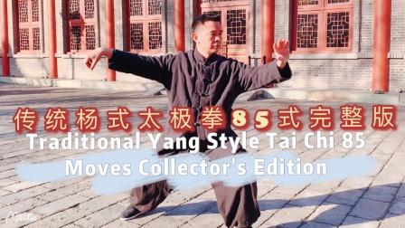 经典传统杨式太极拳85式内功拳架演示,黄山老师太极拳首次完整套路视频分享!