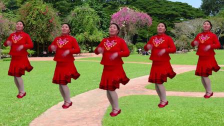 广场舞《中华全家福》欢快的节奏,喜庆的音乐,祝全家美美满满