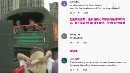 只有在中国,群众才会追车送礼抗洪士兵,这是西方无法理解的东西!
