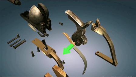柯尔特M1847左轮手枪的分解