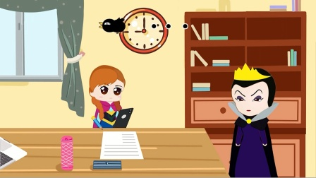 火焰在家认真写作业,母后却不相信她,太伤心了