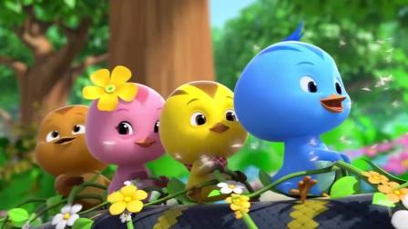 萌鸡小队:小鸡们要和小鸭子们一起去坐火车,大家一起要注意安全