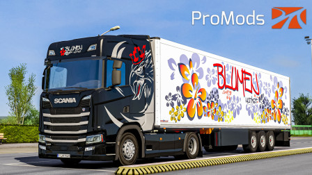 欧洲卡车模拟2 #376:驾驶塞尔维亚BlumenMarket公司斯堪尼亚S500运送3吨鲜花   Euro Truck Simulator 2