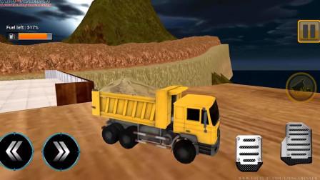 好玩的游戏:驾驶挖掘机去挖土