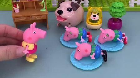 乔治带了两个玩具回家,这两个玩具跟乔治长的一样,佩奇都分不清了