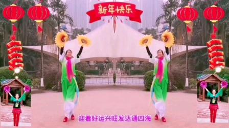 王妹儿广场舞(421号)《好运来》祝大家元旦快乐,牛气冲天!