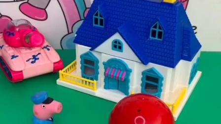 乔治看到了漂亮的房子,怪兽说是自己的,乔治都不敢相信!