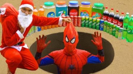 蜘蛛侠:圣诞老人用蜘蛛侠做实验!