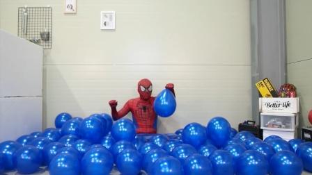 蜘蛛侠:蜘蛛侠拿气球当炮耍!