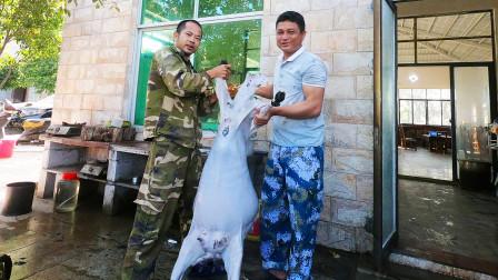 """花2800买只70斤的""""东山羊"""",宰了庆祝跨年,希望2021年捕鱼丰收"""