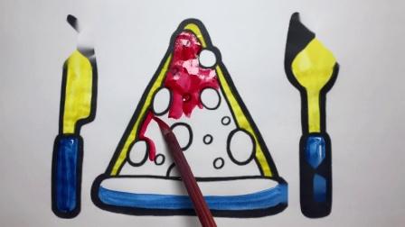 宝宝巴士喜欢用刀叉吃披萨