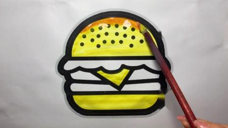 画一个猪猪侠爱吃的汉堡包