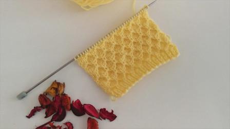 「棒针编织」漂亮的菱形花纹图案!