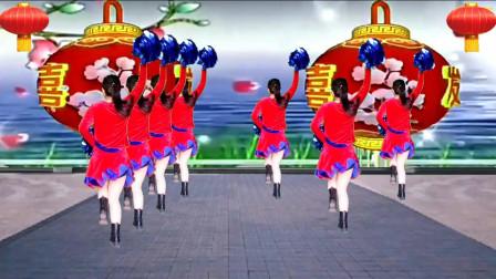 广场舞《新年大吉》歌曲喜庆欢快,舞蹈好看易学