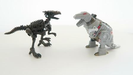 变形侏罗纪 -- 骨龙 激光兽 王国 核心级 Vertebreak (纯变形展示)