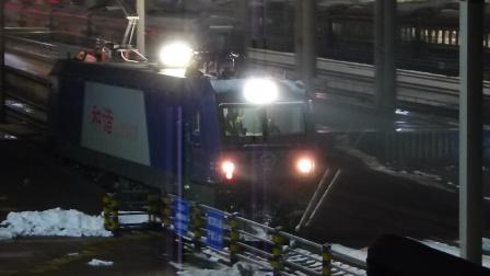 雪:武南HXD3C到达武昌站解挂入库