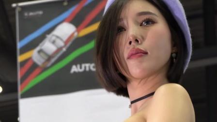 气质韩国车模,汽车沙龙展会