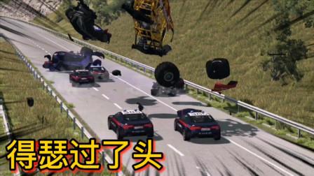 车祸模拟器216 开着大脚车在高速上瞎嘚瑟 实习Police不惯臭毛病