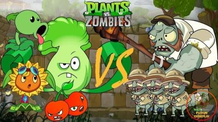 植物大战僵尸:白菜的拳头真厉害把僵尸王揍晕了!