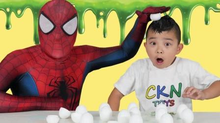 蜘蛛侠:蜘蛛侠和小朋友玩游戏!