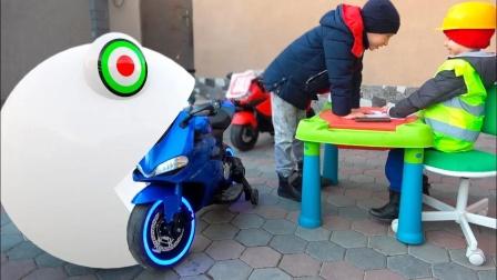 自制吃豆人:小豆子归还了小朋友的玩具车
